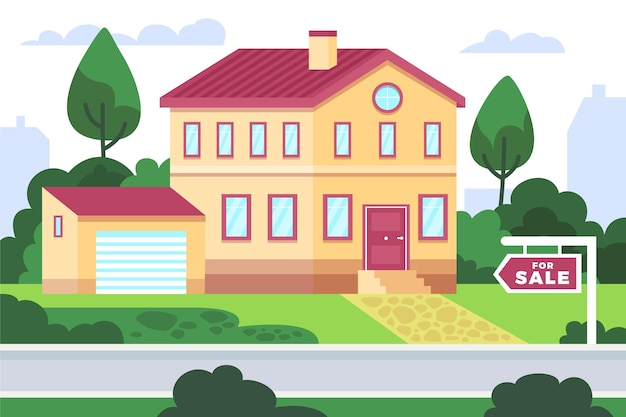 House for sale illustrated