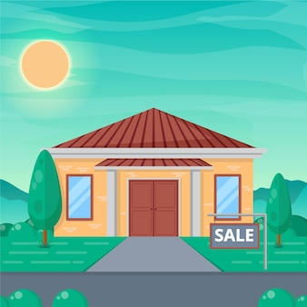 House for sale illustration