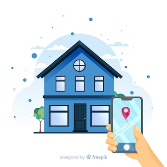 Концепция поиска дома для целевой страницы