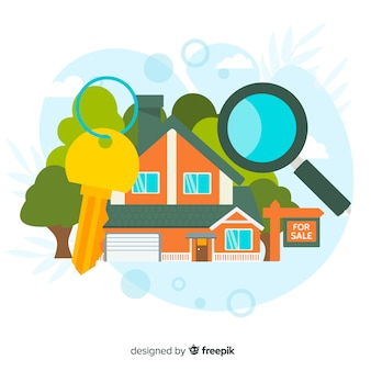 House searching concept for landing page