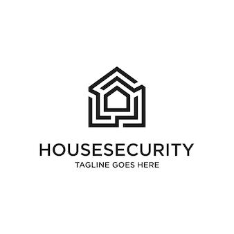 Шаблон логотипа безопасности дома