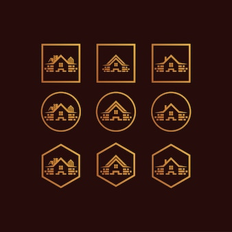 House set logo gradient colour