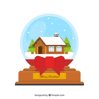 House snowball background