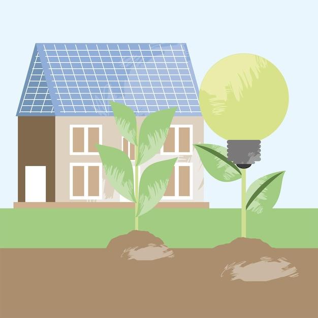 House and solar energy