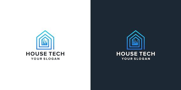 House tech home logo design
