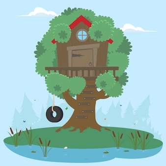 House on tree for kids