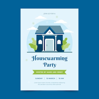 House warming party invitation concept