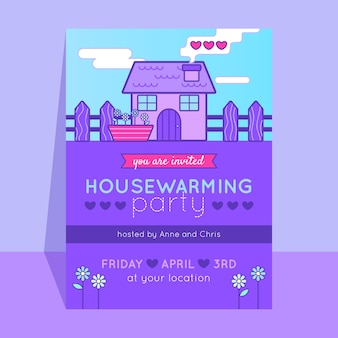 House warming party invitation template concept