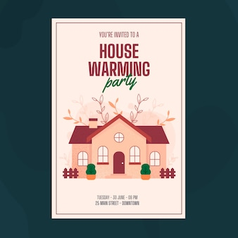 House warming party invitation template style