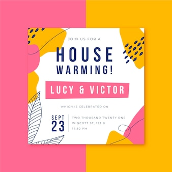 House warming party invitation template