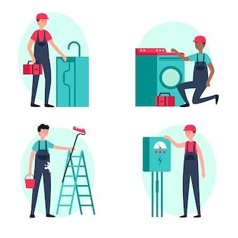 Набор профессий по дому и ремонту