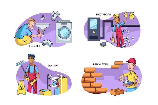 가구 및 혁신 직업 세트