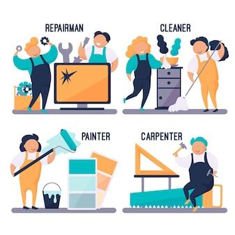 Бытовые и ремонтные профессии