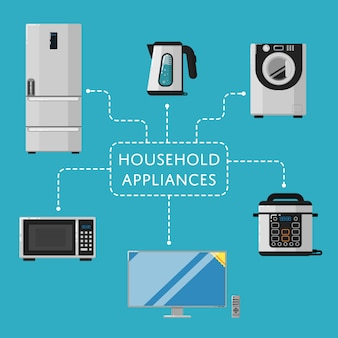 Household appliances  with electro technics