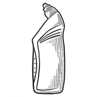 Household chemical detergent, plastic bottle, liquid soap, toilet cleaner
