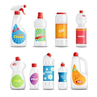 Household chemical goods set
