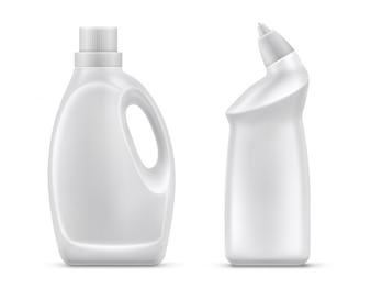 Household chemistry bottles isolated vector