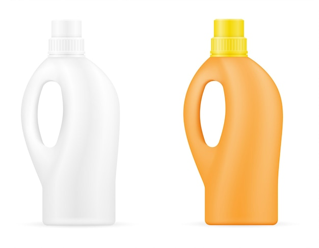 Household cleaning products in a plastic bottle empty template