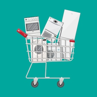 Household devices in shopping cart