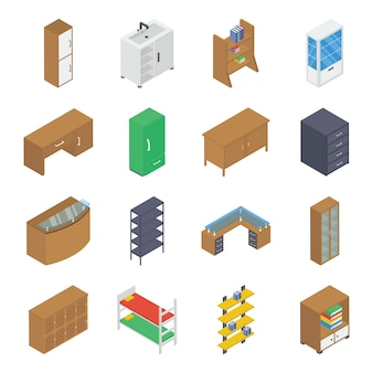 Household furniture isometric pack