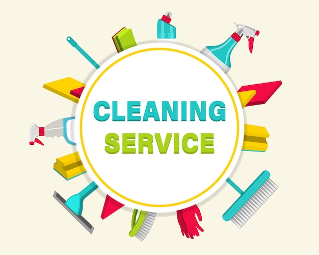 Household items for cleaning. house cleaning service for apartments, residential homes and commercial buildings.