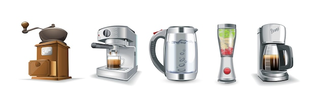 家庭用厨房機器アイコンセット