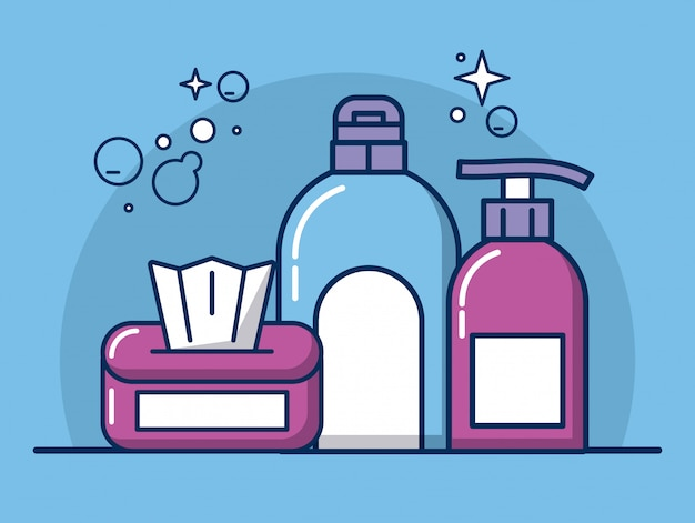 Housekeeping tools and products icons