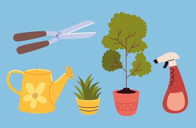 관엽식물 원예 장비