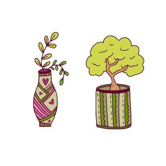 Houseplant vector icons