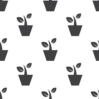 Комнатное растение, вектор бесшовные модели, редактируемый может использоваться для фонов веб-страницы, заливки узором