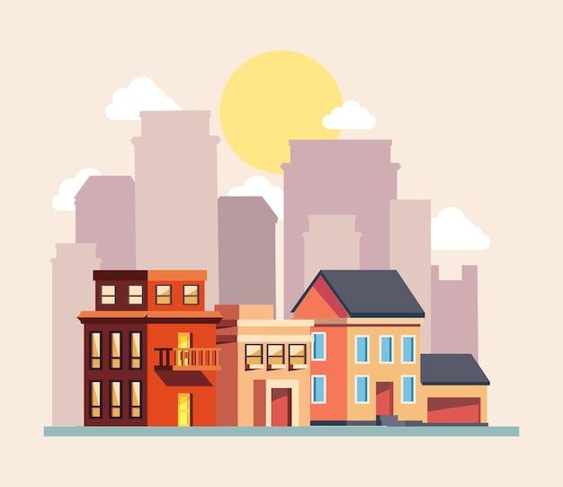 市内の住宅や建物