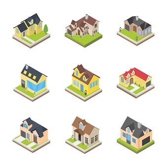 Houses architectures icons