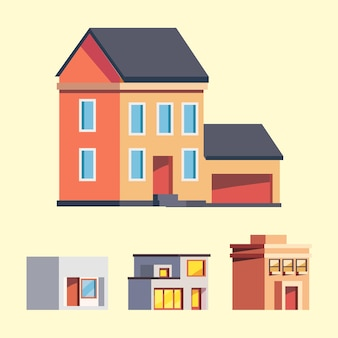 Houses and buidings icon group