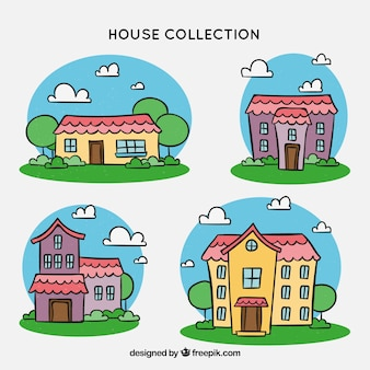 Houses collection with many colors