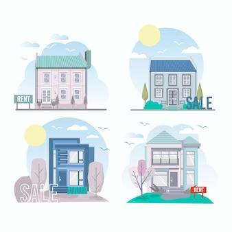 판매 및 임대 수금을위한 주택