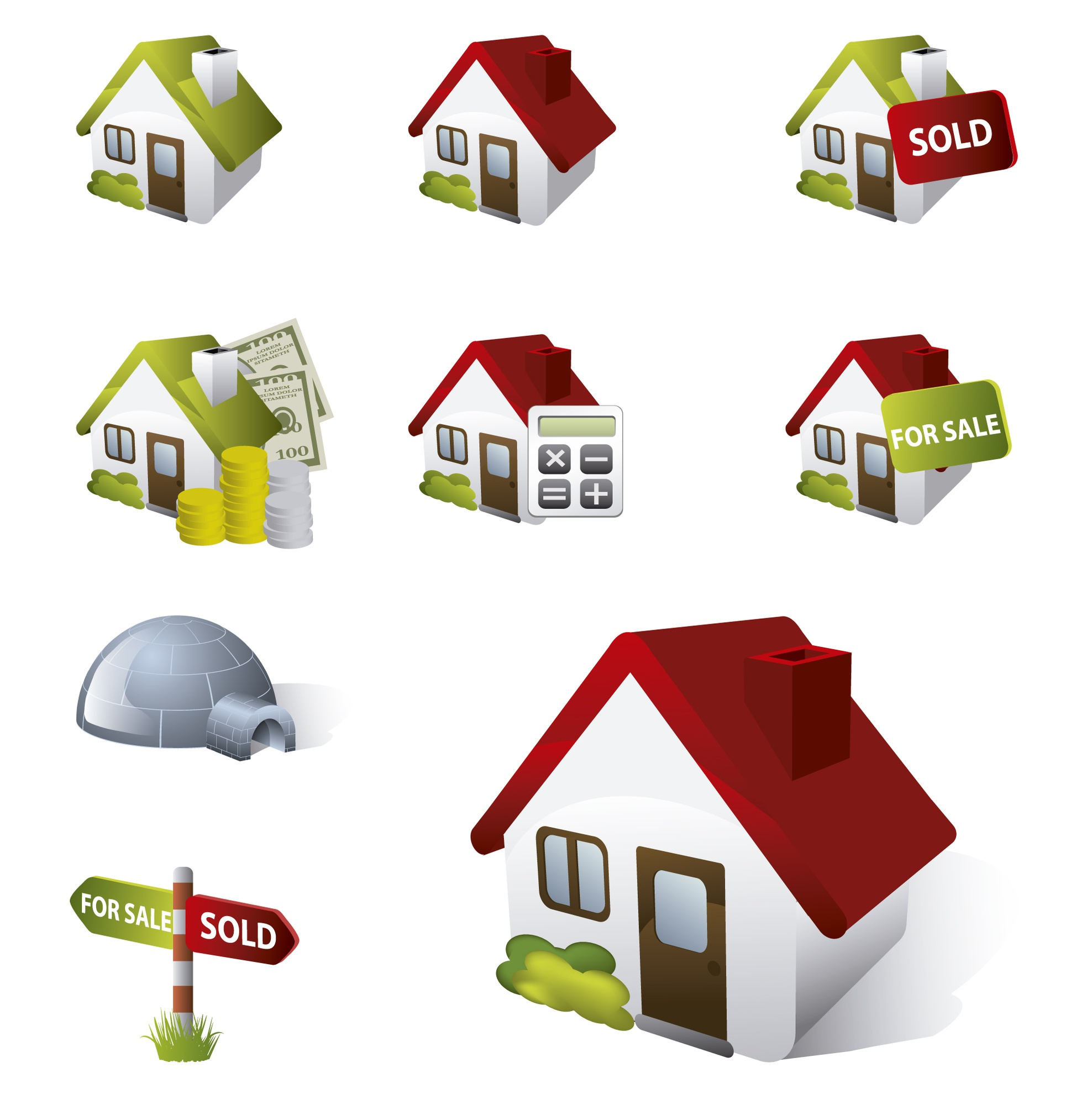 Houses icons collection
