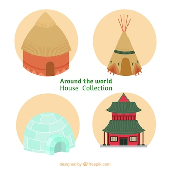 Дома diferent культур