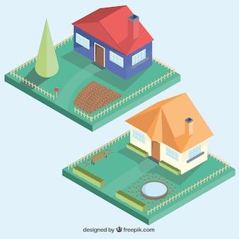庭園と住宅