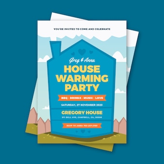 Housewarming event invitation style