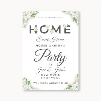 Housewarming party invitation style
