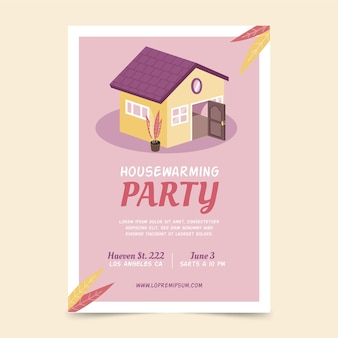 Housewarming party invitation template