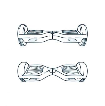 Вектор hover доски в линейном стиле
