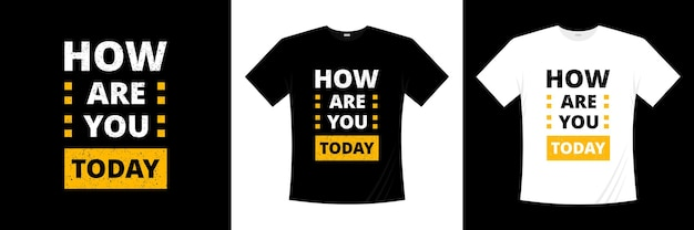 오늘 타이포그래피 티셔츠 디자인 어때?