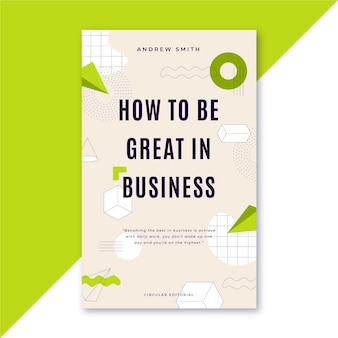 How to be great in business book cover template