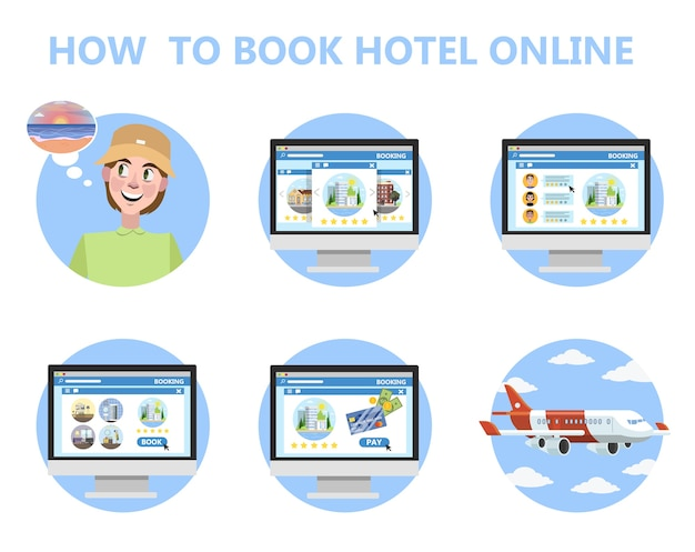How to book hotel online instruction for beginner