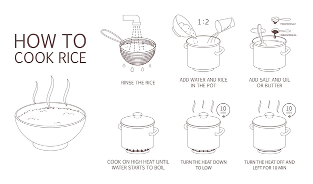 How to cook rice with few ingredients easy recipe.