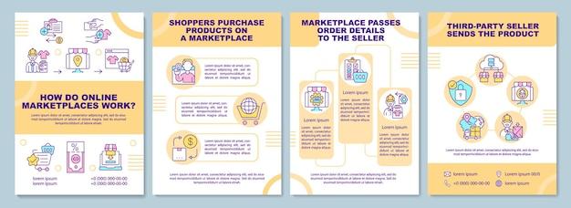 온라인 마켓 플레이스는 브로셔 템플릿을 어떻게 작동합니까? 온라인 비즈니스.