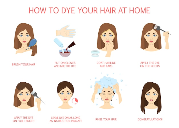 How to dye your hair at home guide.