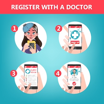 How to get consultation with a doctor using mobile phone instruction.