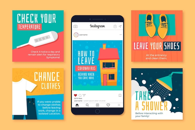 How to leave coronavirus behind when you come home instagram posts